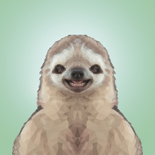 Canvas-taulu - Happy Sloth Party