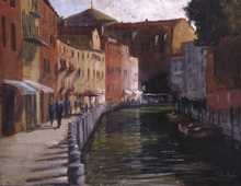 Canvas print - Along the Canal
