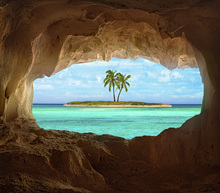 Wall mural - Paradise through Window