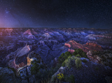 Canvas print - Grand Canyon Night