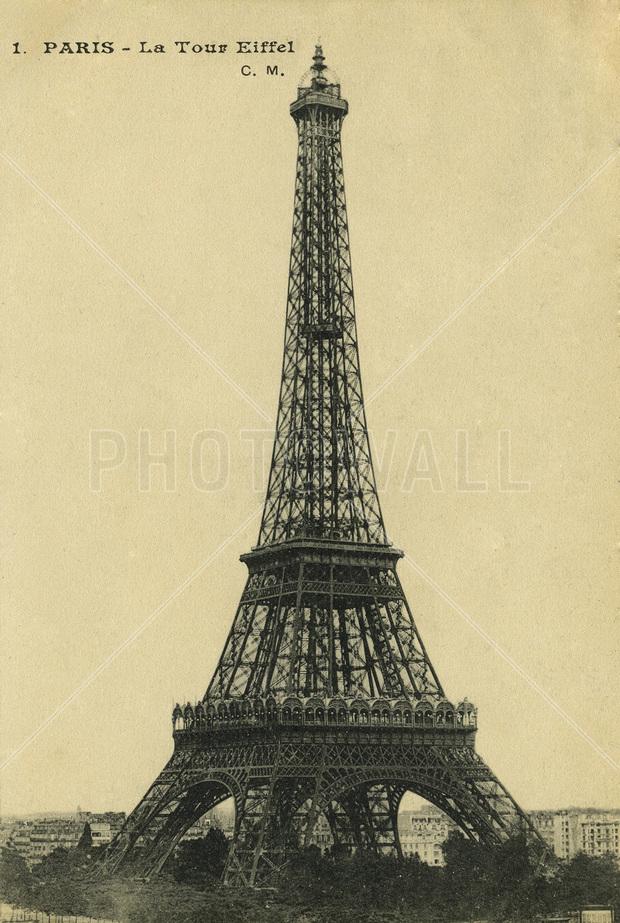 Vintage Eiffel Tower Sepia Canvas Print Canvas Art