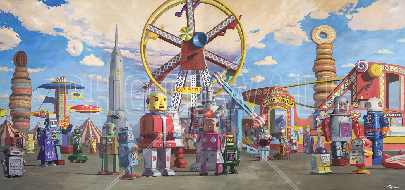 Fairgrounds Wall Mural Amp Photo Wallpaper Photowall
