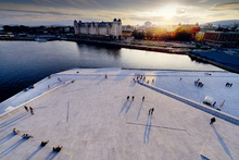 Canvastavla - View from Oslo Opera House