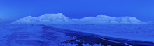 Canvas print - Spitsbergen in Blue Light, Svalbard