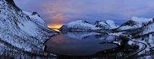 Wall mural - Golden Sunset over Troms, Norway