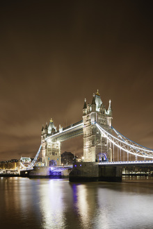 Canvas print - London Bridge - Purple Light