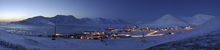 Leinwandbild - Longyearbyen by Night, Svalbard II