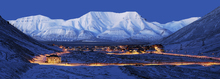 Canvastavla - Longyearbyen by Night, Svalbard III