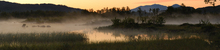 Wall mural - Evening Fog over Lake, Senja Norway