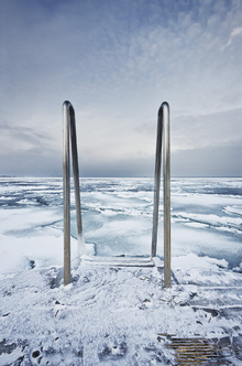 Canvas print - Icy Ladder and Horizon