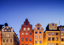 Fototapet - Buildings in Stockholm Old Town