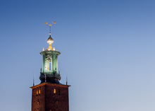 Fototapet - Three Crowns, Stockholm City Hall