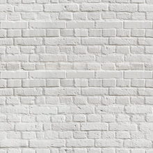 Wallpaper - White Amsterdam Brick Wall