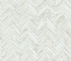 Wallpaper - Chevron Parquet - White