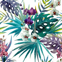 Wallpaper - Jungle Watercolor Pattern