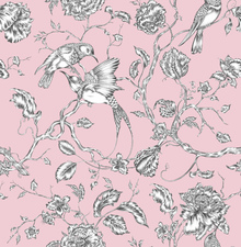 Tapet - Hummingbird Pink