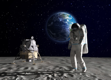 Wall mural - Astronaut on the Moon 2
