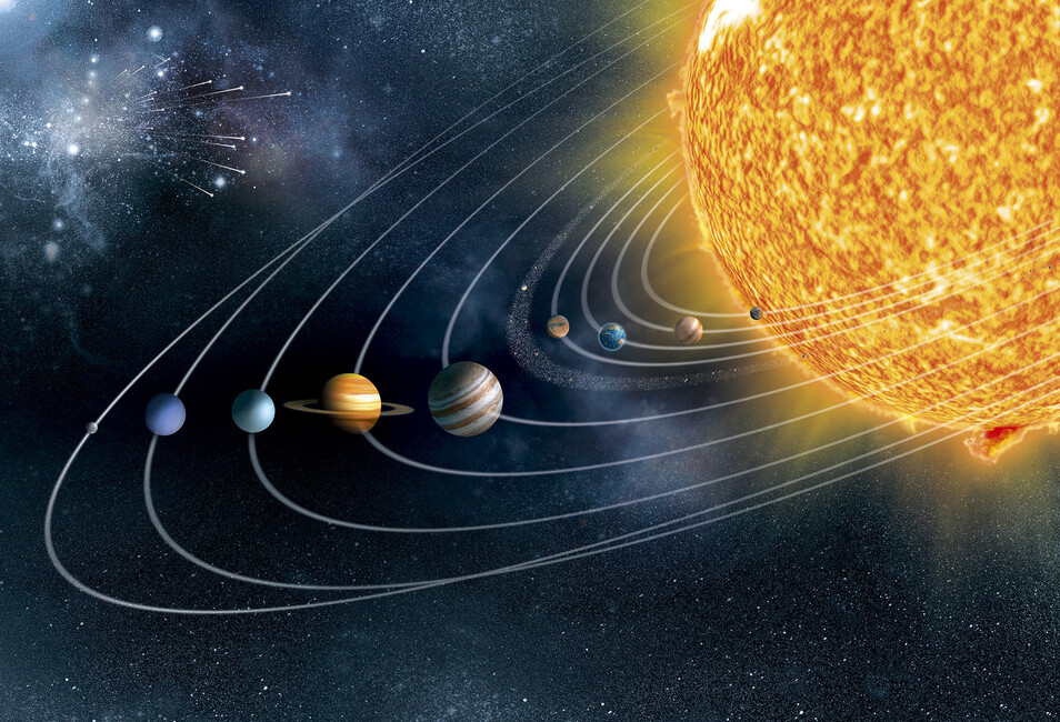 Ecliptic Solar System - Wall Mural & Photo Wallpaper ...