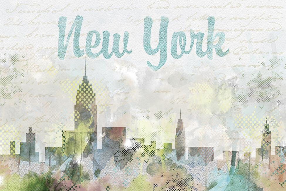 Watercolor New York Wall Mural Amp Photo Wallpaper Photowall