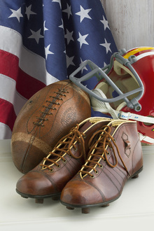 Canvas print - Vintage Football Equipment