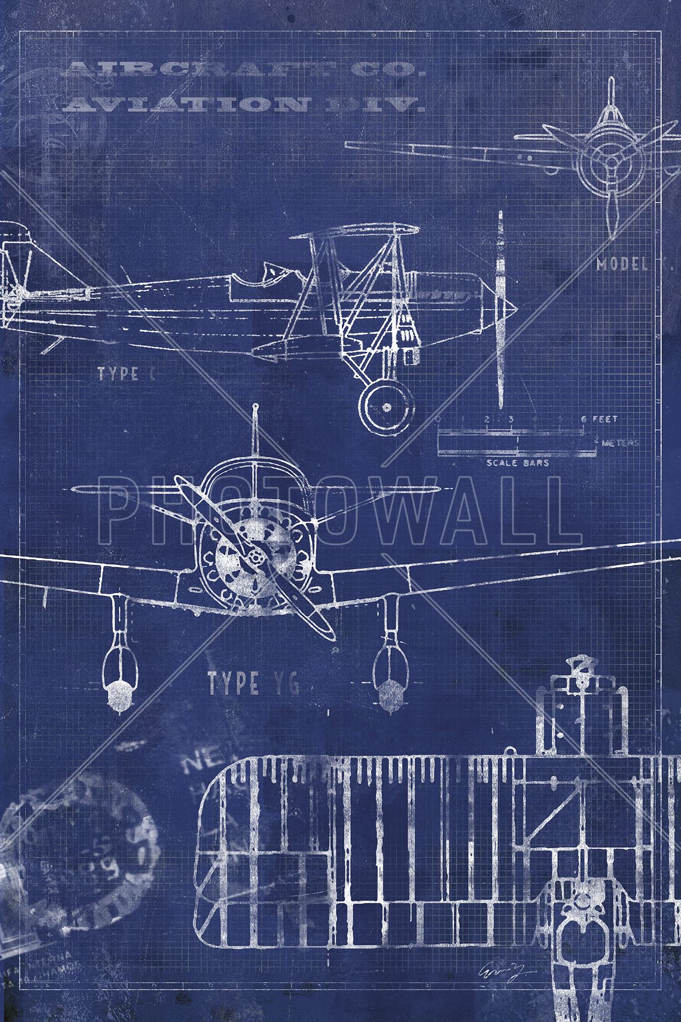 Star Wars BluePrint Wall Mural-8-705