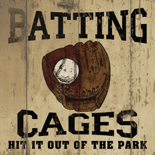 Canvastavla - Batting Cages