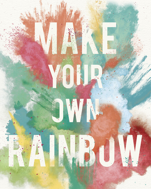 Make Your Own Rainbow Wall Mural Photo Wallpaper