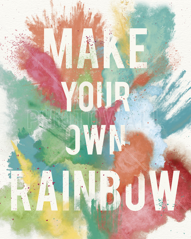 Make your own rainbow wall mural photo wallpaper for Create your own mural wallpaper