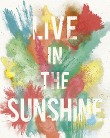 Canvas print - Live in the Sunshine