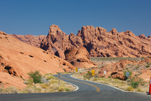 Canvas print - Valley of Fire in Nevada, USA
