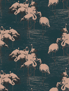 Wallpaper - Flamingo Pink