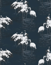 Wallpaper - Flamingo White