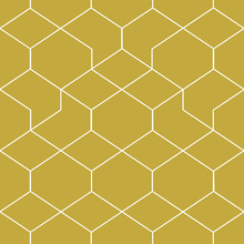 Tapet - Honeycomb Yellow
