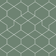 Wallpaper - Honeycomb Green