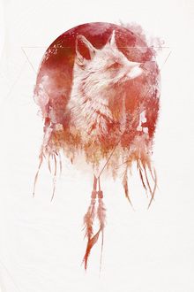 Canvas print - Dreamcatcher Wolf