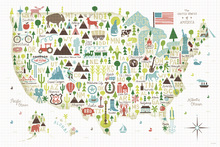 Canvas print - Illustrated USA