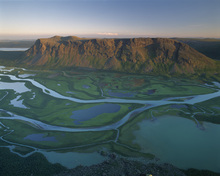 Wall mural - River Delta in Sarek National Park, Sweden