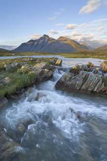 Canvastavla - Stream in Sarek National Park, Sweden