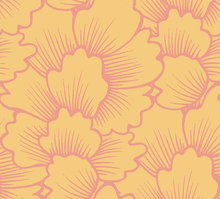 Tapete - Mostly Coral Pink on Yellow