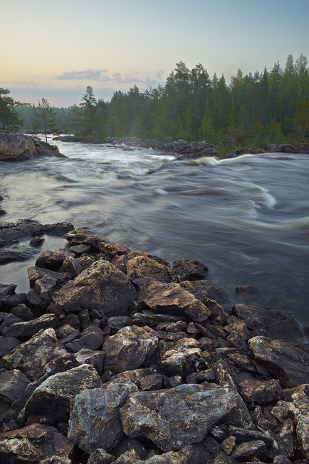 Stream in Northern Sweden