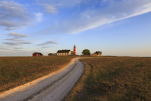 Leinwandbild - Countryroad to Lighthouse, Gotland