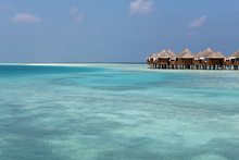 Canvas print - Bungalows in the Maldives