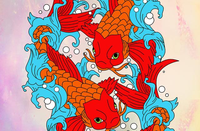 Koi fish wall mural photo wallpaper photowall for Koi wallpaper for walls