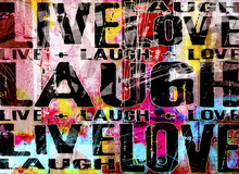 Wall mural - Live Laugh Love