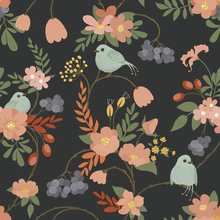 Wallpaper - Bluebird Dark Grey