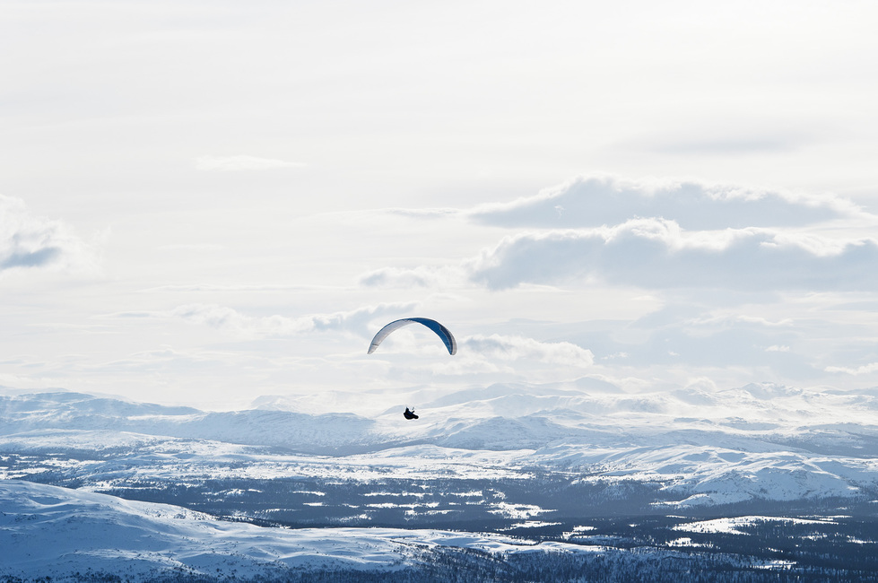 Parachuting in Åre, Sweden