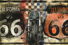 Leinwandbild - Route 66 California