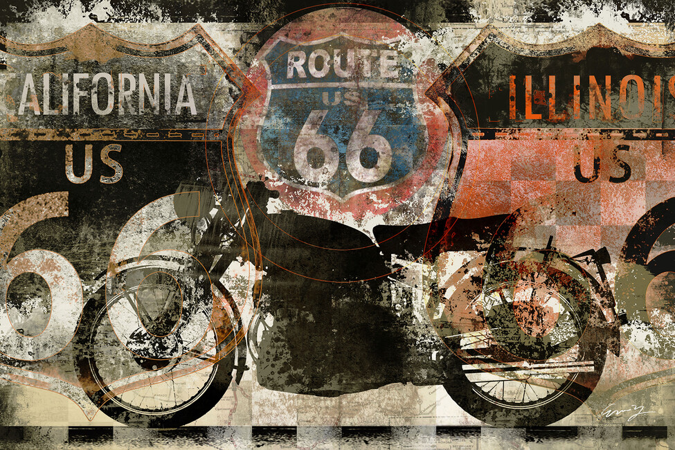 Route 66 us wall mural photo wallpaper photowall for Route 66 mural