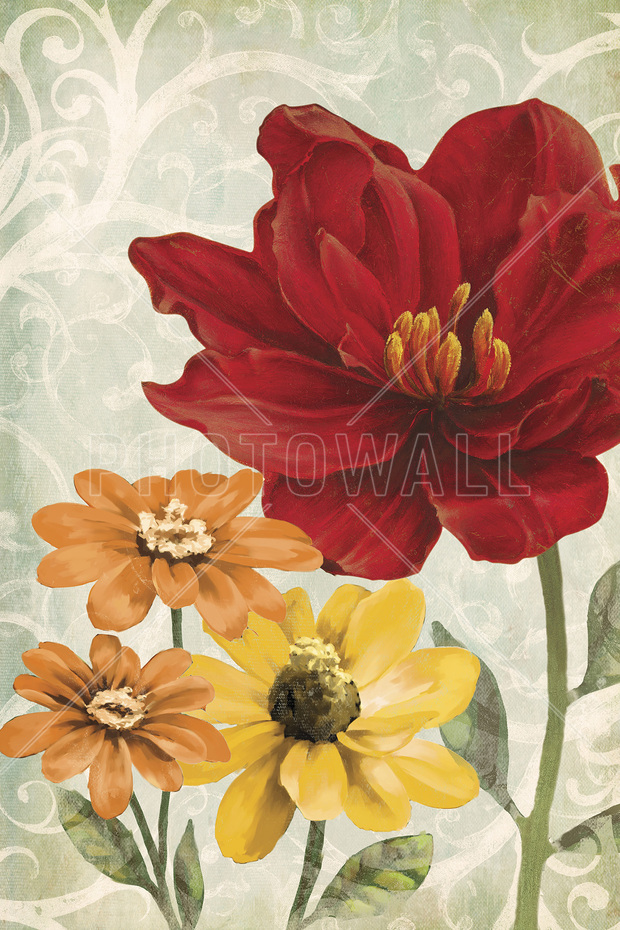 Warm Flowers Wall Mural Amp Photo Wallpaper Photowall