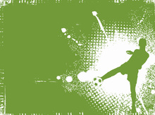 Canvas print - Soccer Player Green